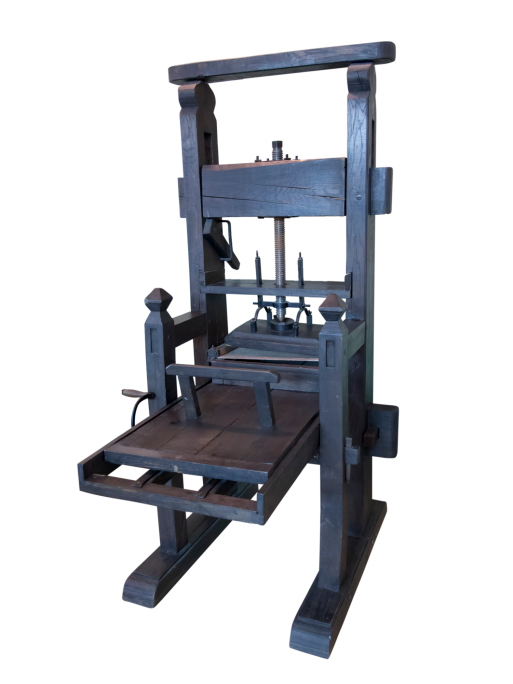 a history of the invention of the printing press The printing press was the world's first piece of mass-production technology its  invention changed the world as dramatically as splitting the atom or sending men .